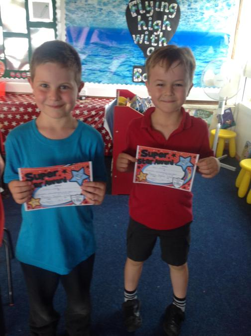 Well done to Evan and Sean for amazing progress in swimming.