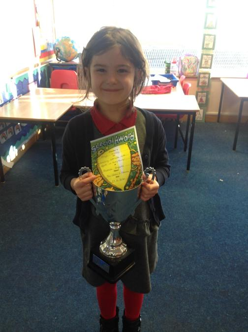 Well done for always putting in 100% effort Freya!