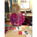 Flag making with pegs