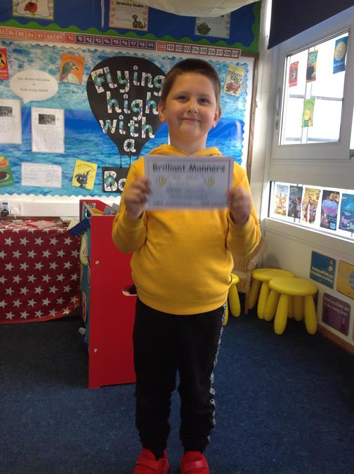 Well done Ollie for being so polite to others!