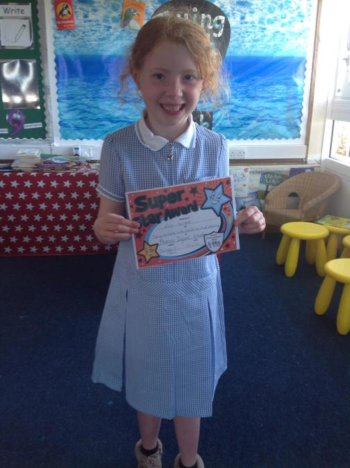 Evie has worked so hard on her spellings this week, well done!!