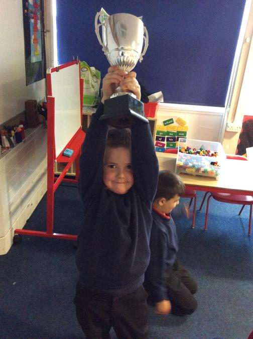 Leyland has been a super helper and has made sure the classroom is kept clean. Well done!