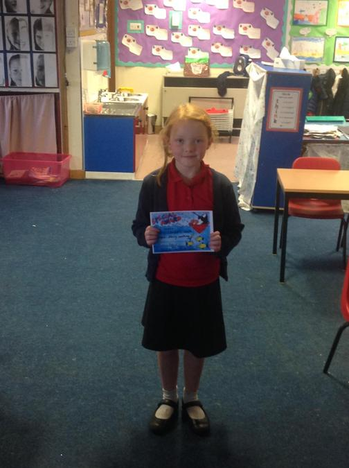 Tilly wrote a fantastic story this week with lots of adjectives.