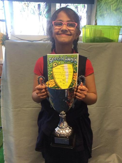 Vishika had amazing science ideas this week and did some amazing writing! Well done!