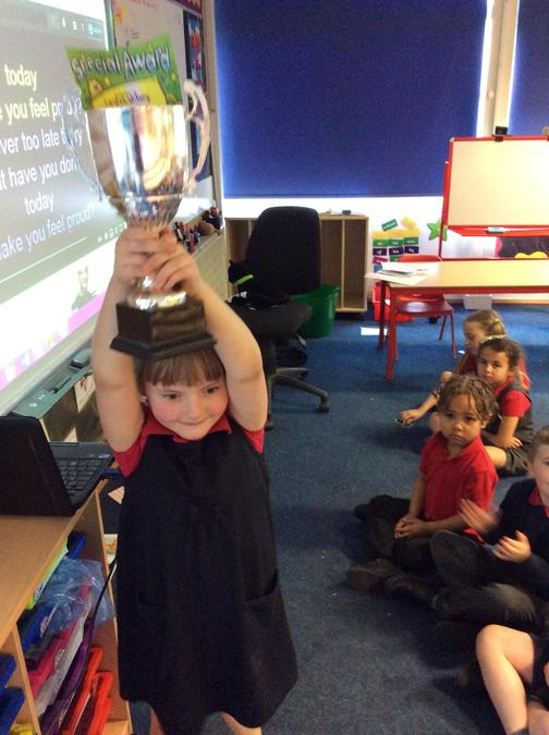 Laylah has been doing some super writing this week and picks up the trophy for it.