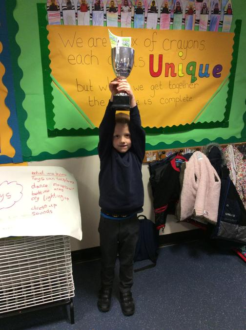 Well done to Sam who gets the trophy for being a super helper and a super sensible worker.