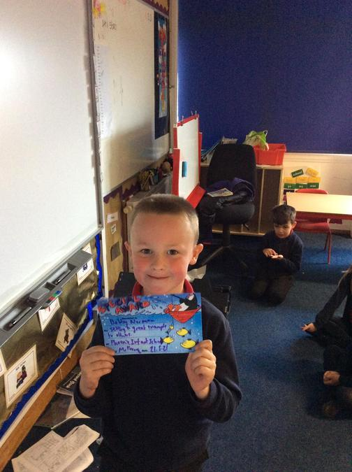 Bobby has been setting a super example all week and is a great role model to others.
