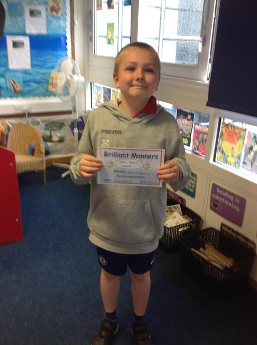 What brilliant manners Noah! Well done!