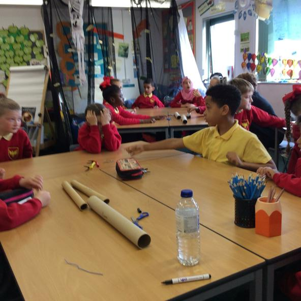Year 3 making muscles.