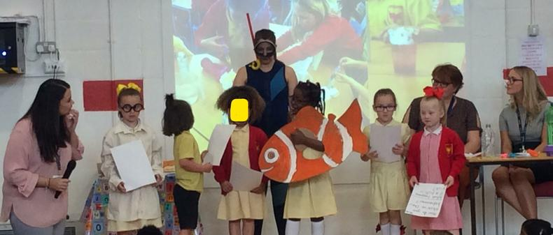 Yr 1 looked at marine biologists in science week.