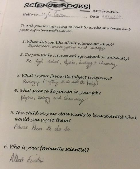 Staff enjoy sharing their science experiences.