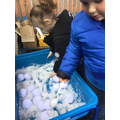 sensory exploration of snow