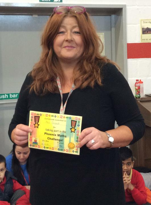 Mrs Cusack - staff winner