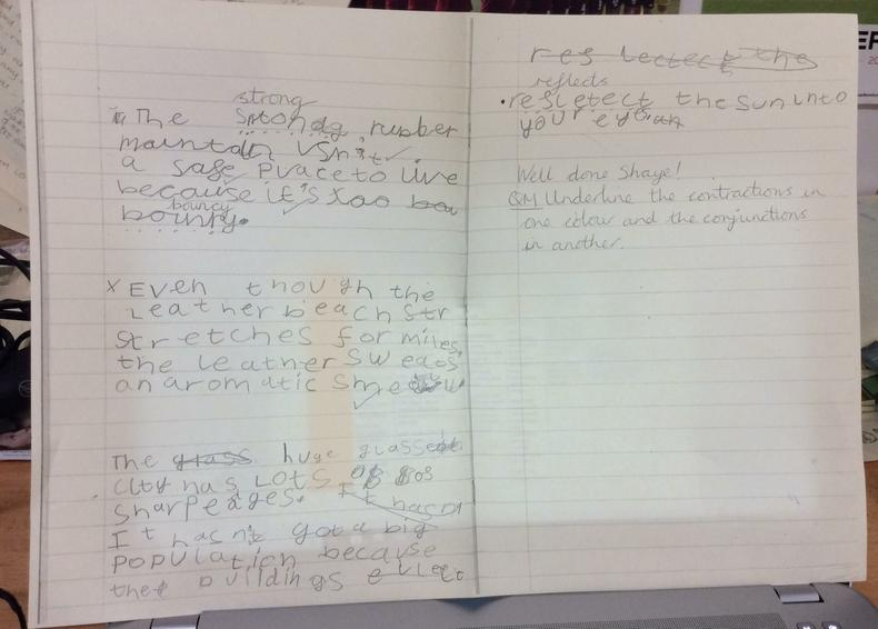 A great example of cross curricular writing.