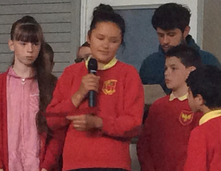 Yr 6 present their science songs.