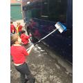 Washed the minibus