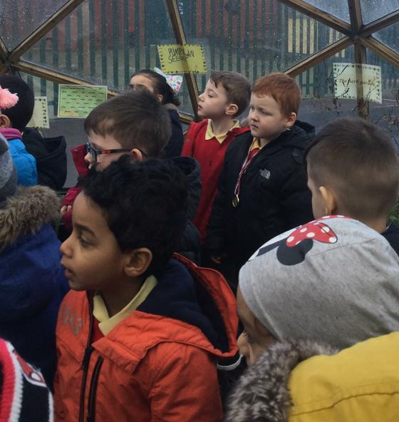 Year 1 working in the bio dome.