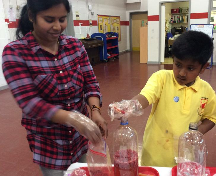 Parent and child science workshop.
