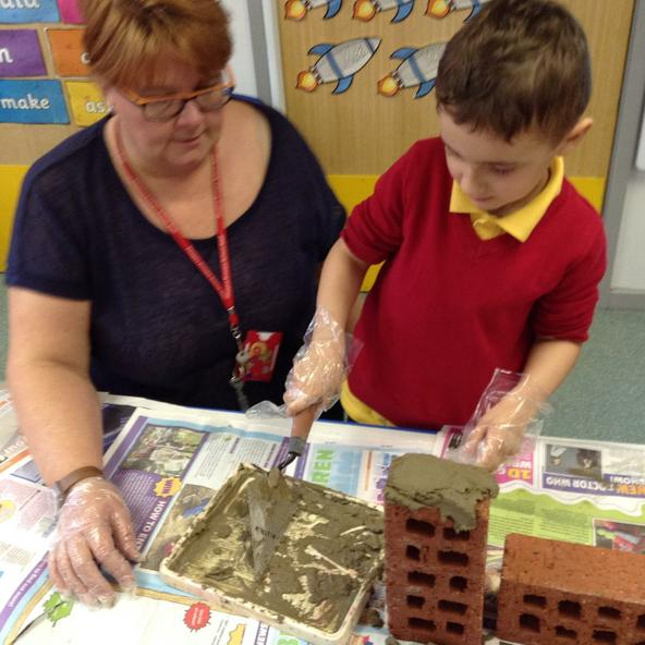 Year 2 were building a house for the 3 pigs.