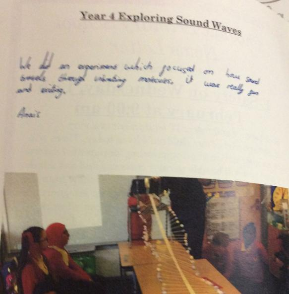 Yr 4  in the news letter-testing sound waves.