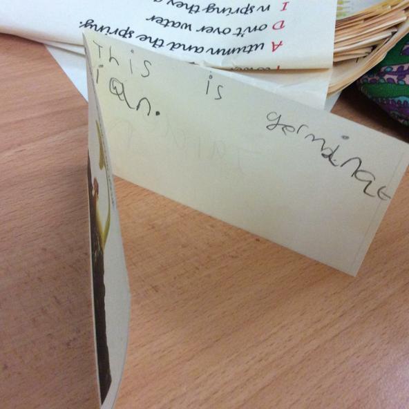 Y2 making mini plant books.