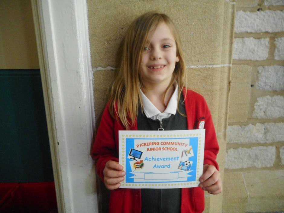 For a massive improvement in her maths!