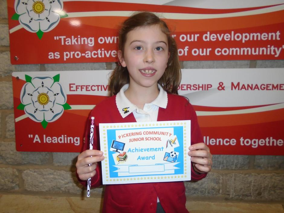 Conscientious and brilliant! She's a star learner!