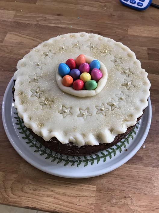 Mrs Barr's simnel cake!