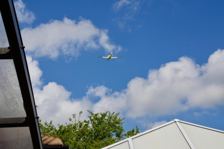 Seven plane flypast