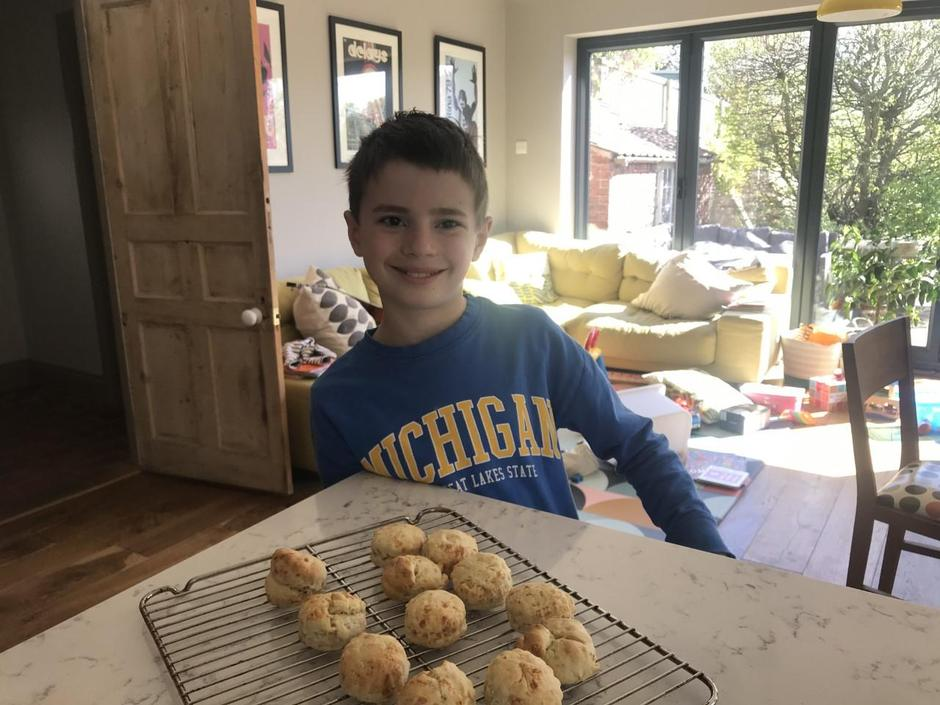Zach with his stilton scones!