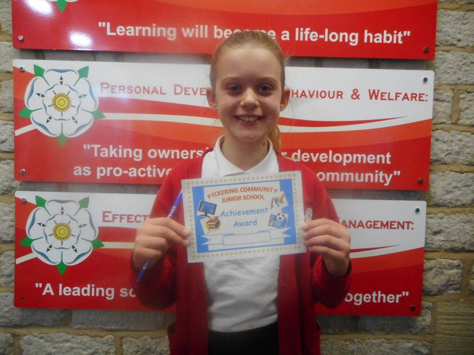 For demonstrating a fantastic attitude to learning