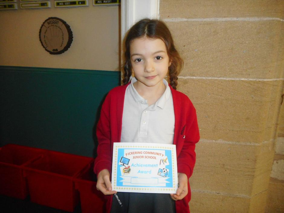For outstanding work in maths!