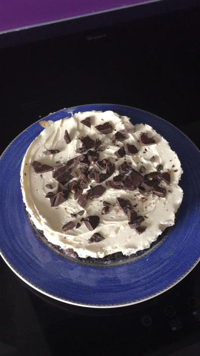 Willow made this Oreo based cheesecake!