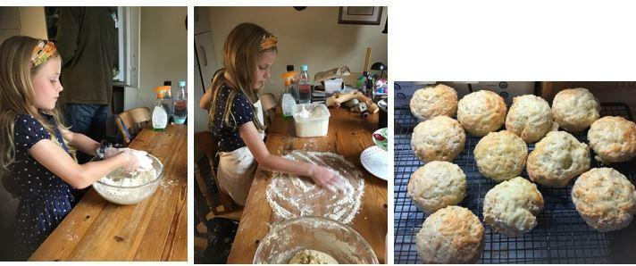 Edie made scones with SR flour for Father's Day!