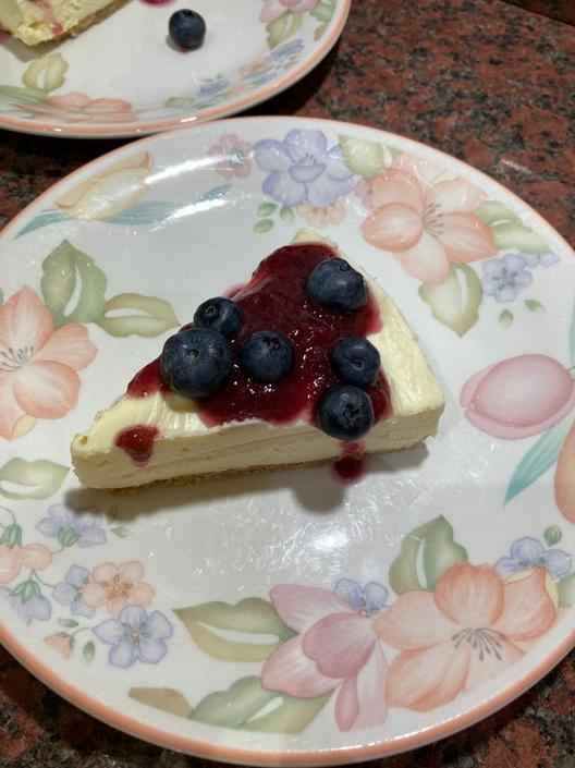 Mrs Pollard's white chocolate cheesecake!