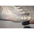 How big is this Greek goddess's foot?