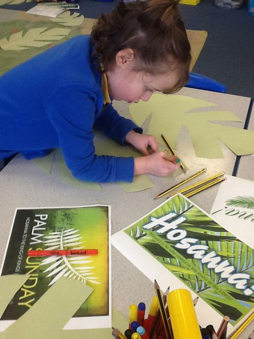 Decorating palm leaves