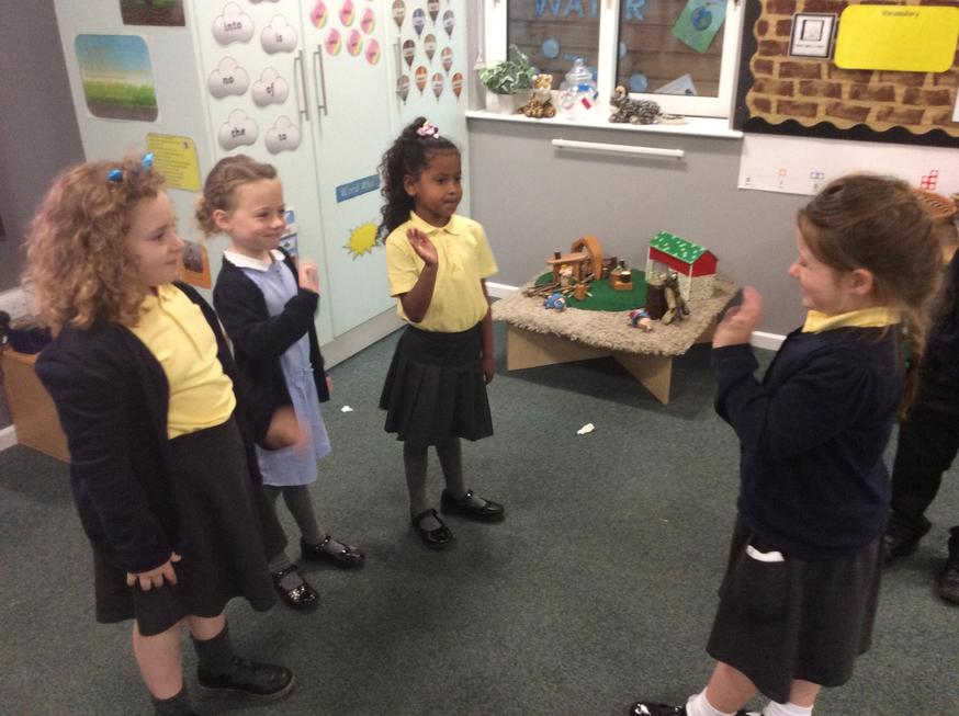 Acting out the story
