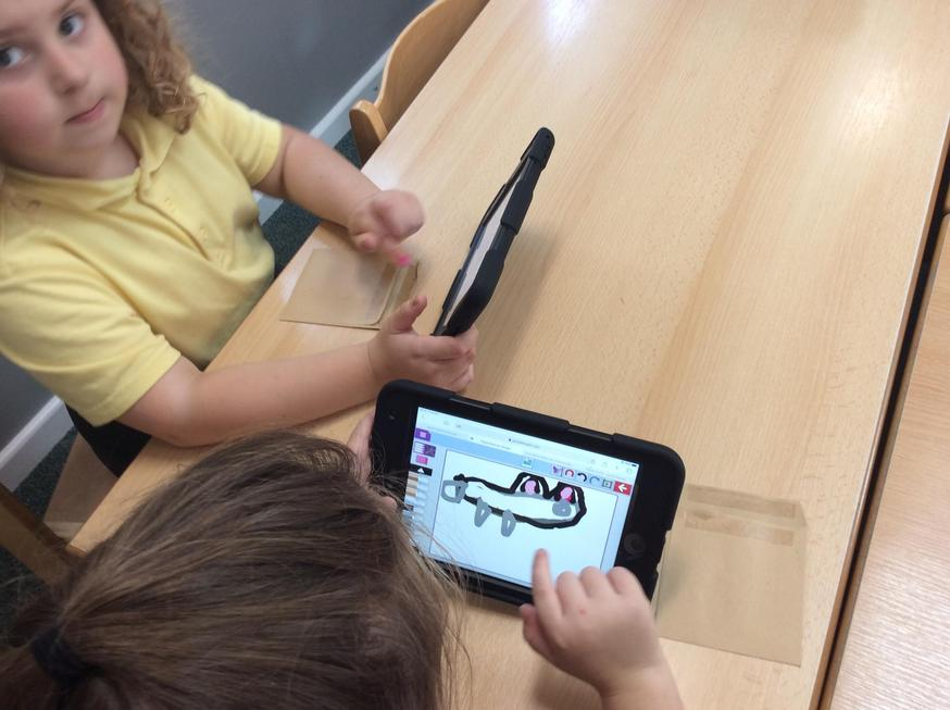 Wolf pictures on the ipads
