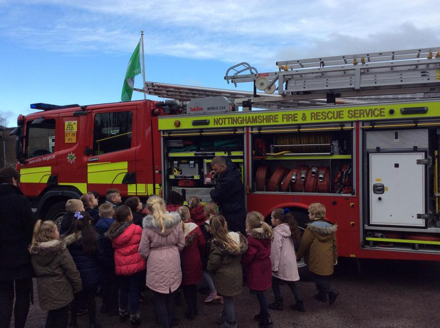 A visit from the firefighters