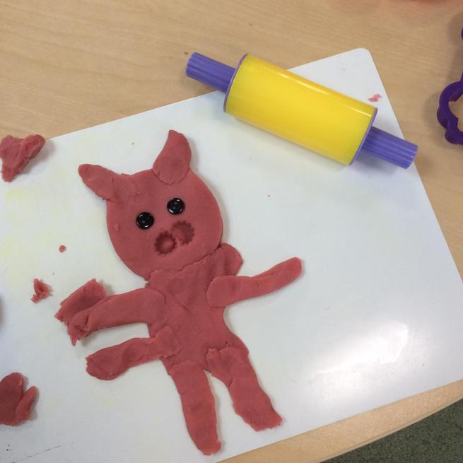 Playdough pigs