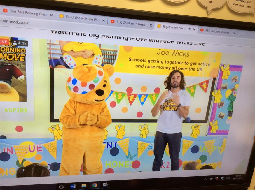 Joining in with Joe Wicks for 'The Big Move'