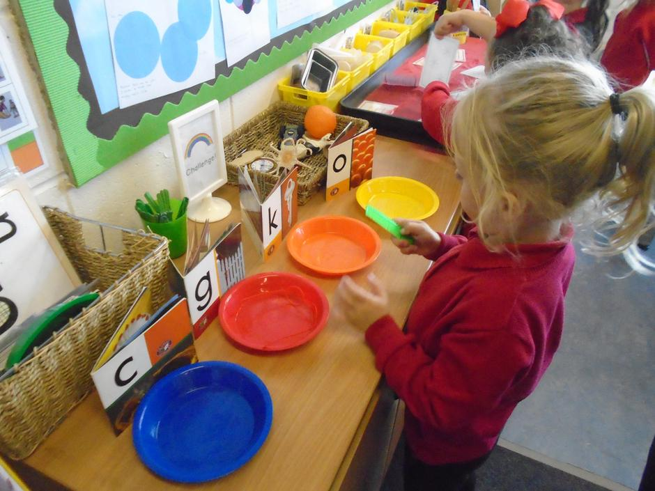 Sorting items by their initial sound.