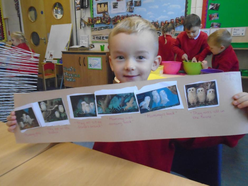 We have sequenced the 'Owl Babies' story.