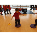 In P.E. we have been practising our balancing.