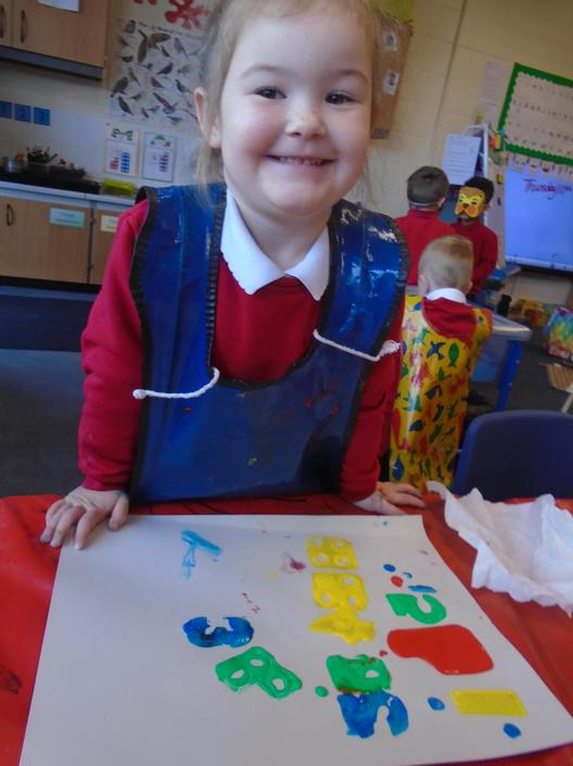 Printing with numbers and numicon