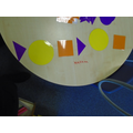 Using shapes to make repeating patterns.