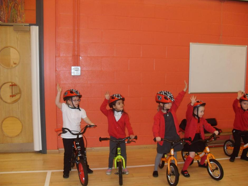 We have been developing our confidence on bikes.