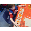 We have printed patterns with autumn leaves.