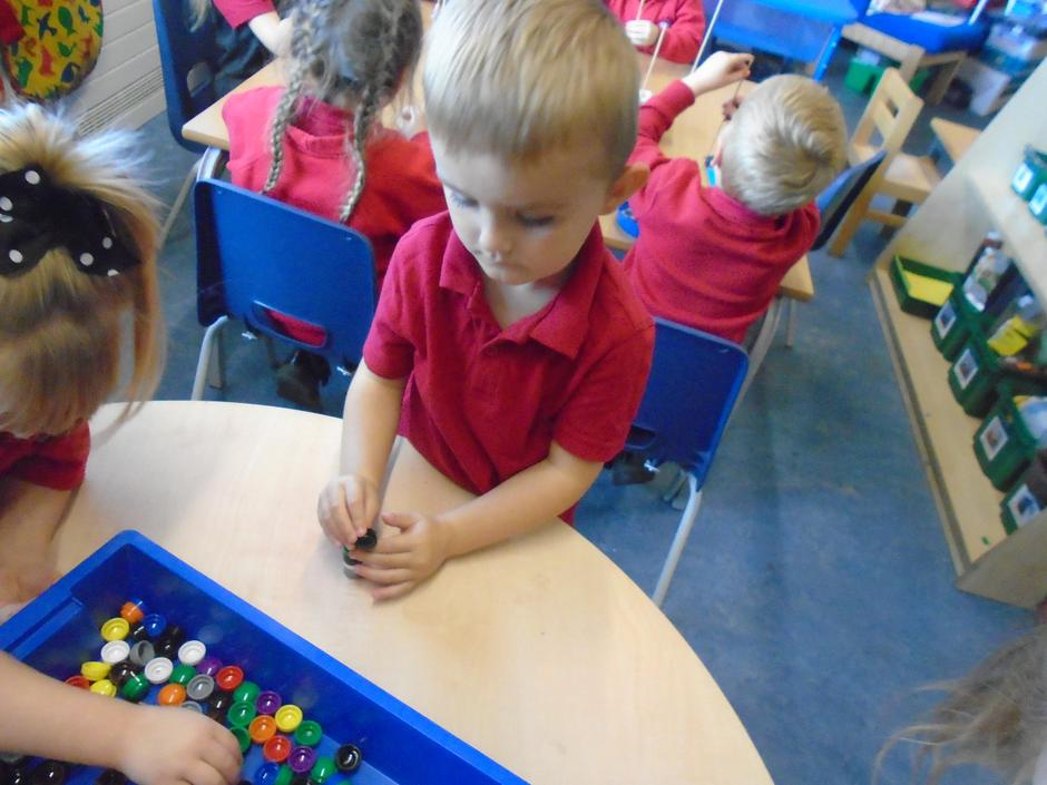 We have been enjoying our funky fingers activities